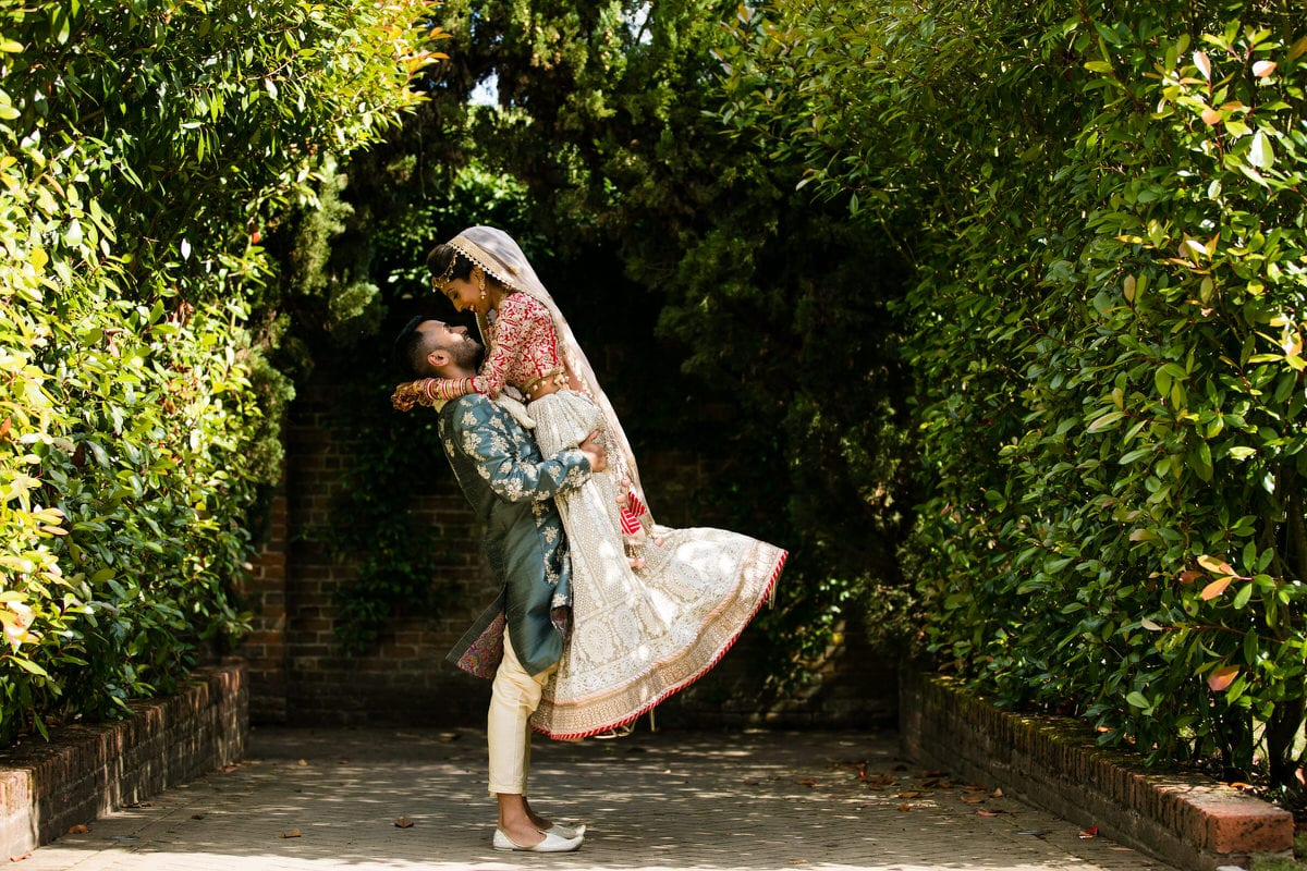 Bride and groom portraits at Northbrook Park