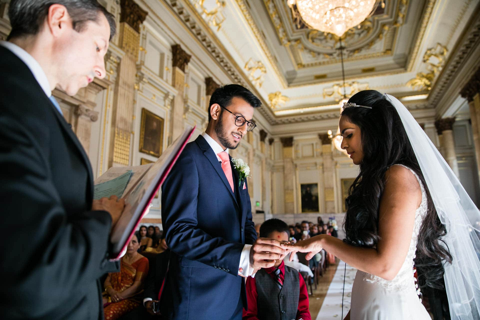Civil wedding ceremony at One Great George Street , London