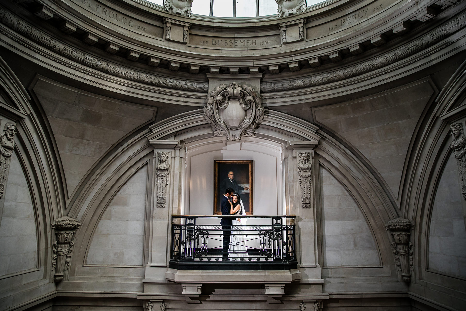 Wedding Portrait at One Great George Street