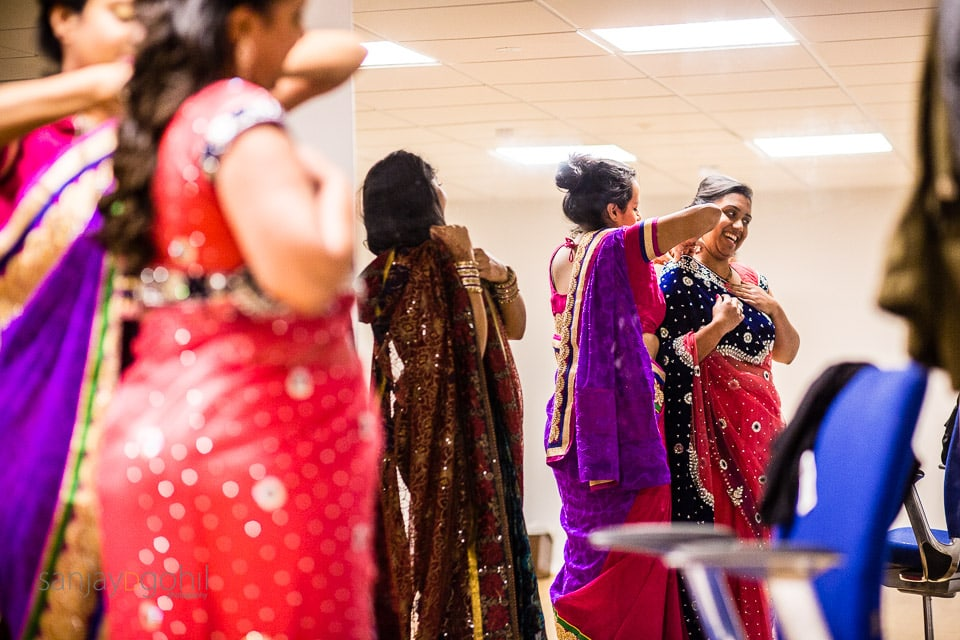 Guests getting ready for Asian Wedding ceremony