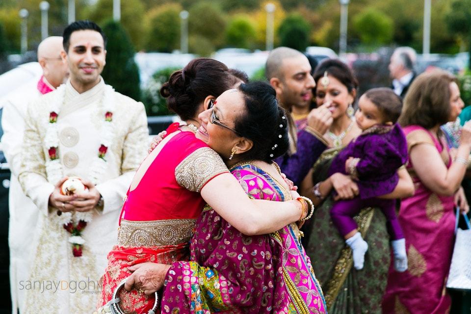 Hindu Wedding guests meeting at Oshwal centre