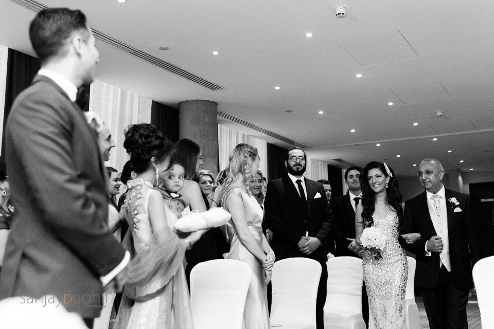 Arrival of Bride during civil