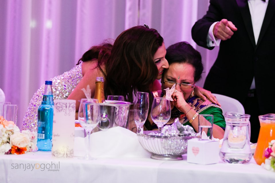 Mother of bride getting emotional
