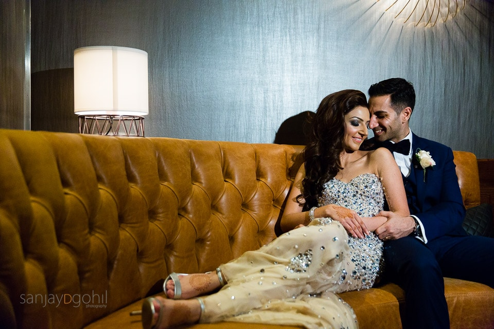 Asian Wedding portrait at Hilton London Tower Bridge