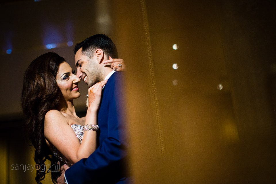 beautiful wedding portrait at Hilton London Bridge Hotel