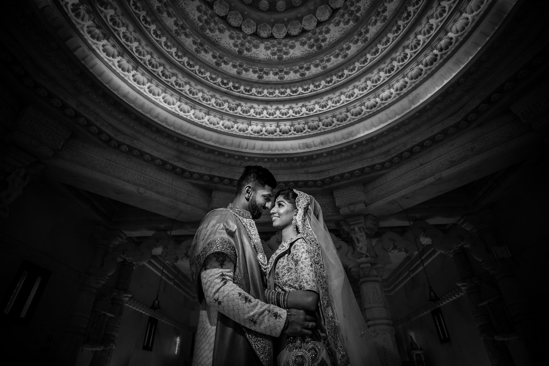 Asian Wedding Portrait at Oshwal centre