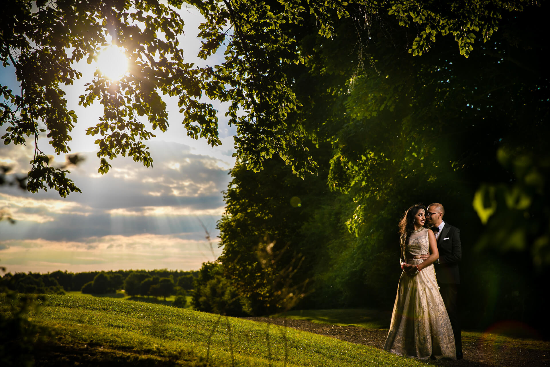 Wedding portrait at Manor of Groves