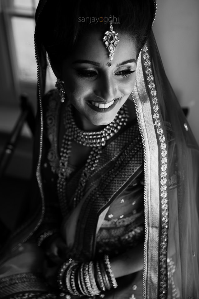 Asian bridal portrait. Makeup by Roshni Hair and Makeup