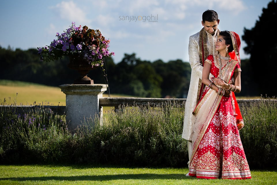 Asian Wedding Portrait at Quendon Hall
