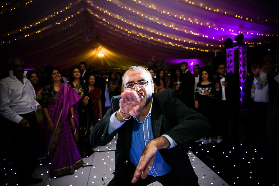 Wedding Guests dancing at reception party