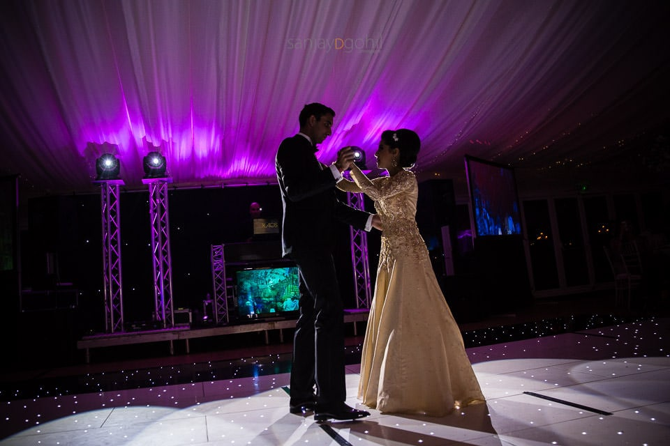 Asian wedding first dance and Quendon Hall