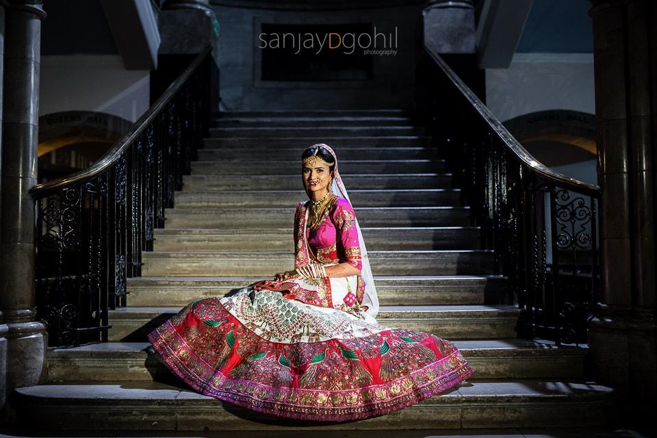 Hindu Wedding portrait at Ealing Town Hall London