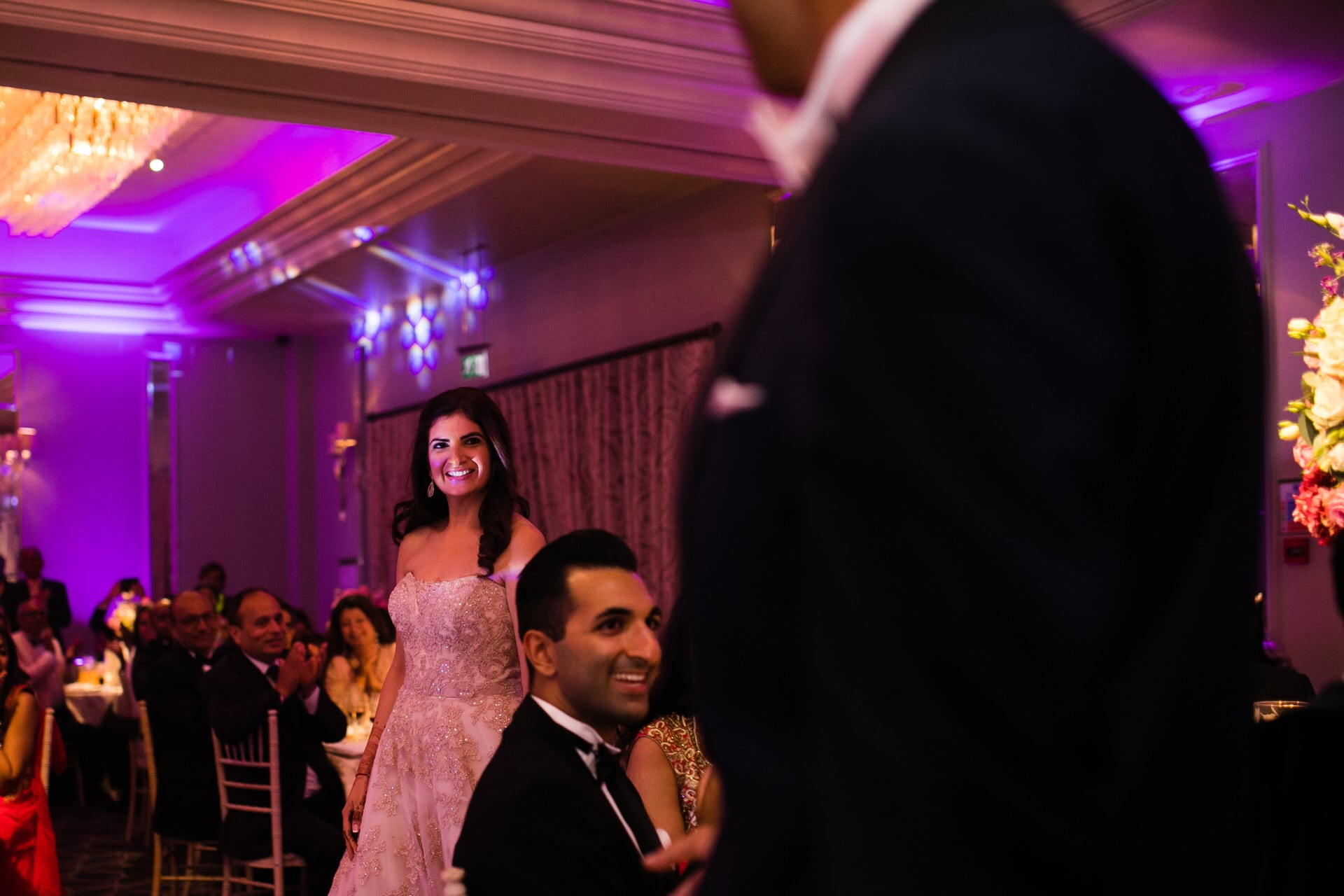 Bridal entrance during reception party
