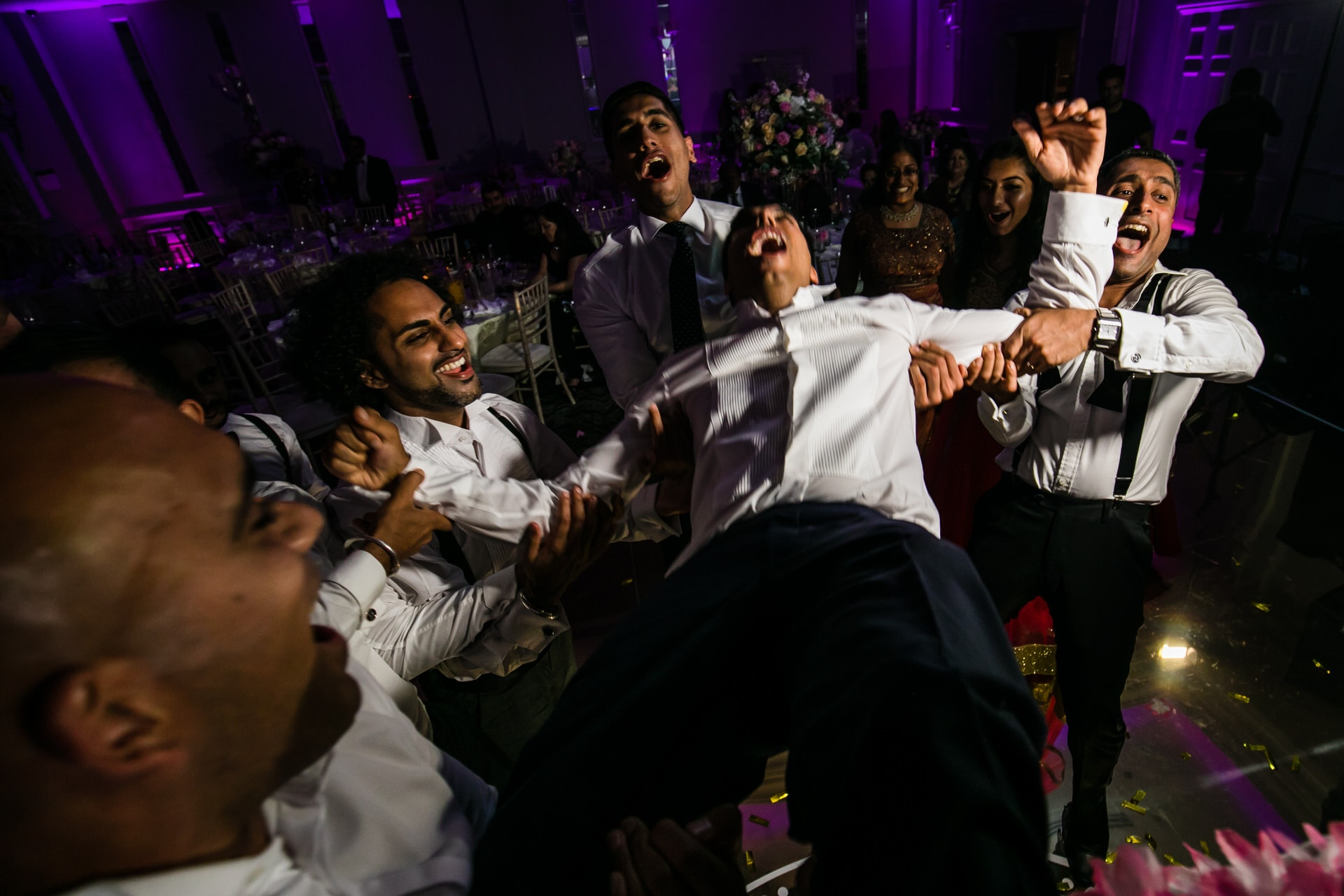 Wedding reception party at Sopwell House in St Albans, UK
