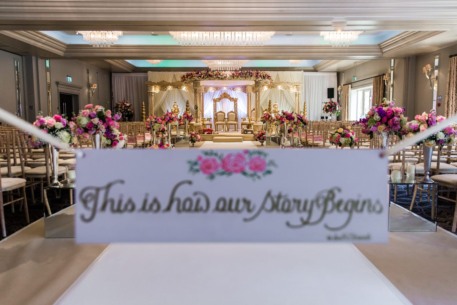 Sopwell House Asian Wedding Decor by Shagun Wedding