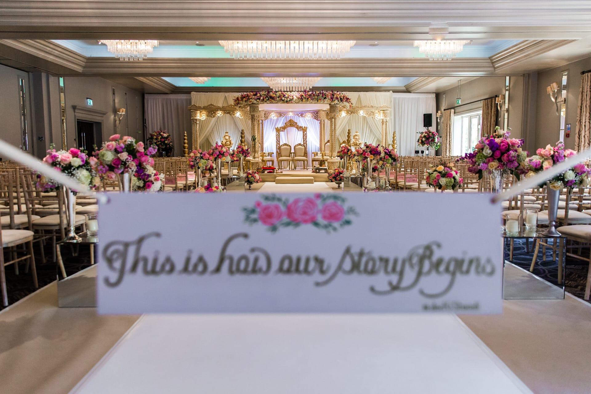 Sopwell House Asian Wedding Decor by Shagun Wedding