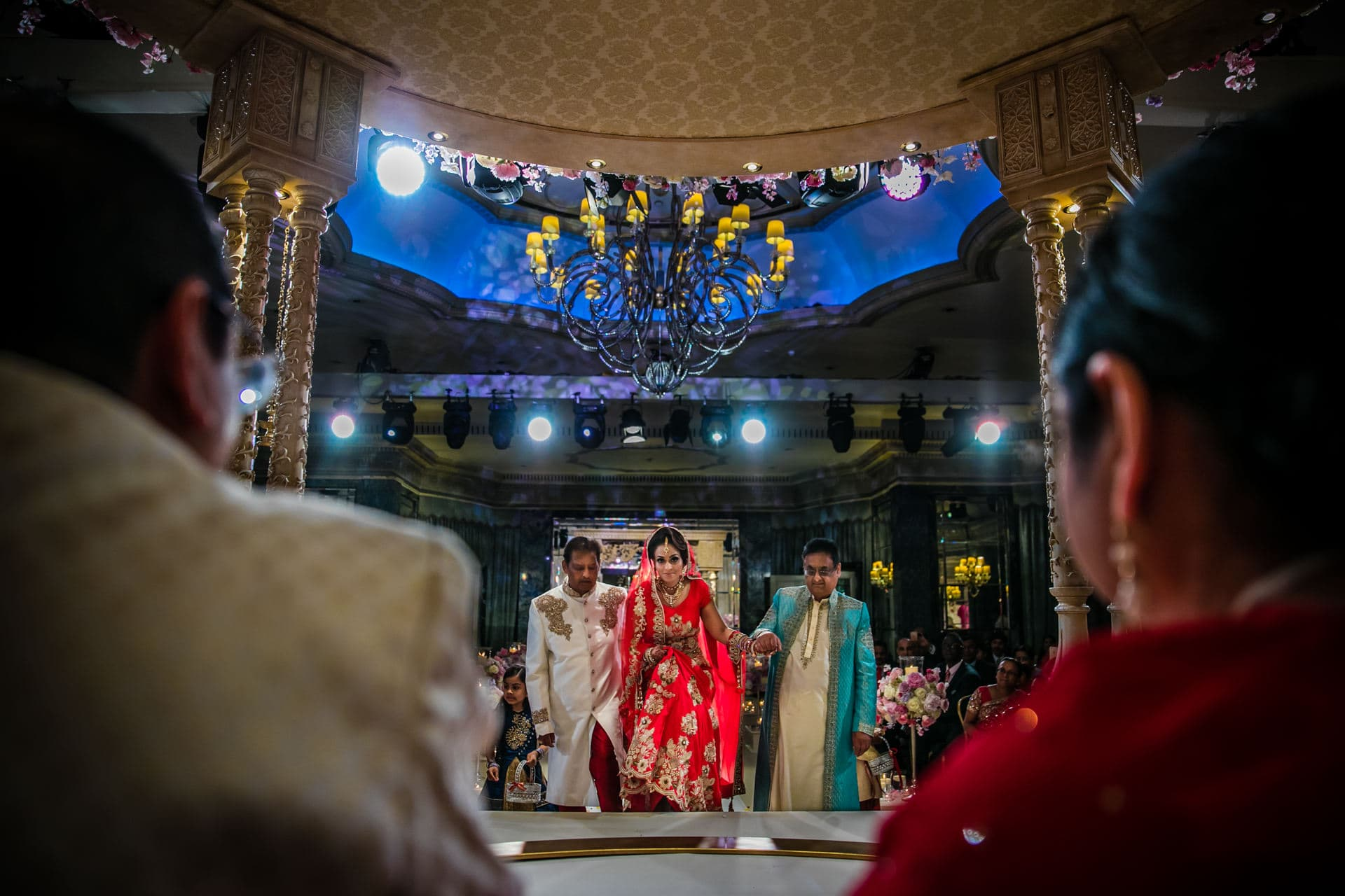 Asian Wedding Bride's entrance into the mandap