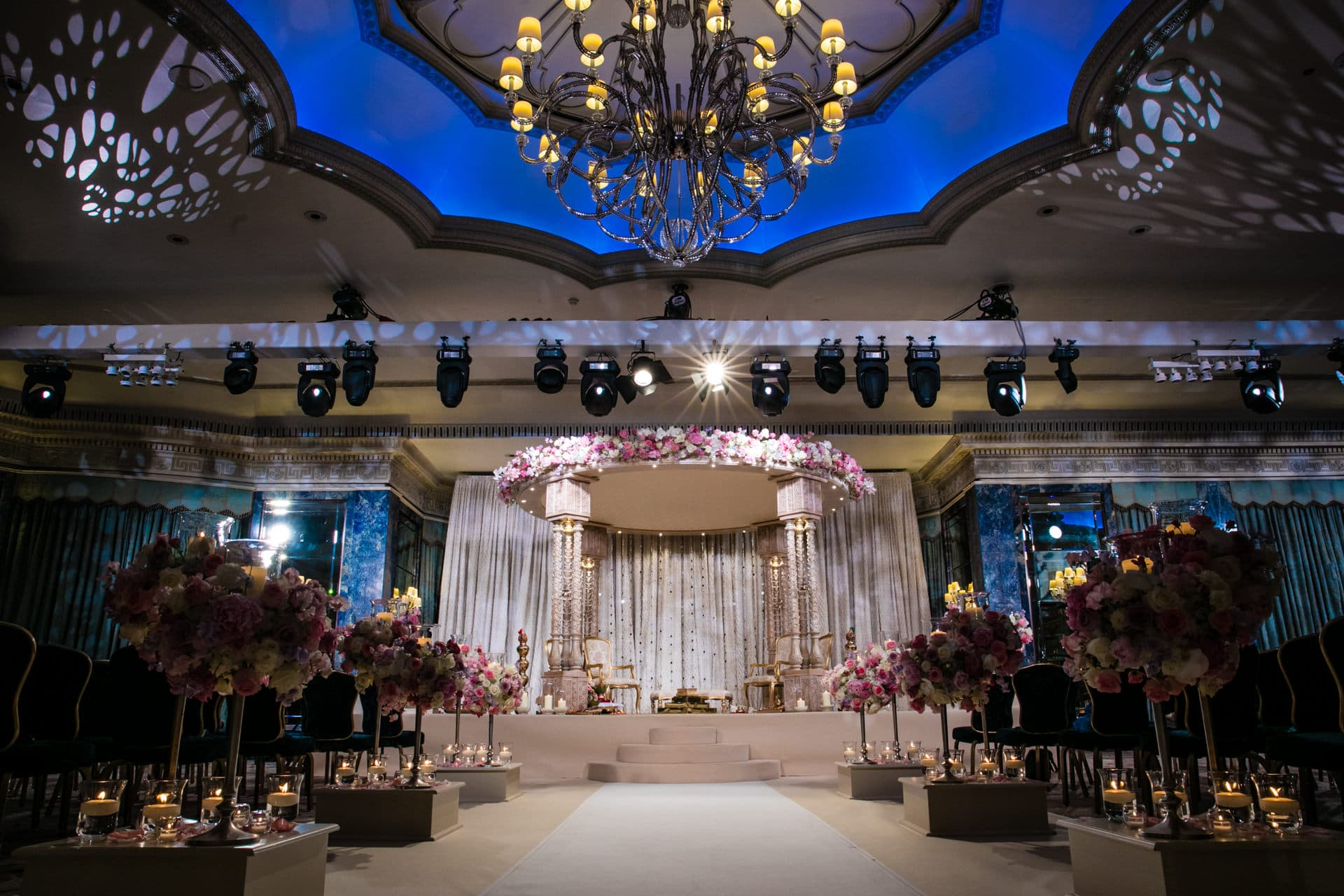 Beautiful Jay and I Mandap at The Dorchester Hotel London