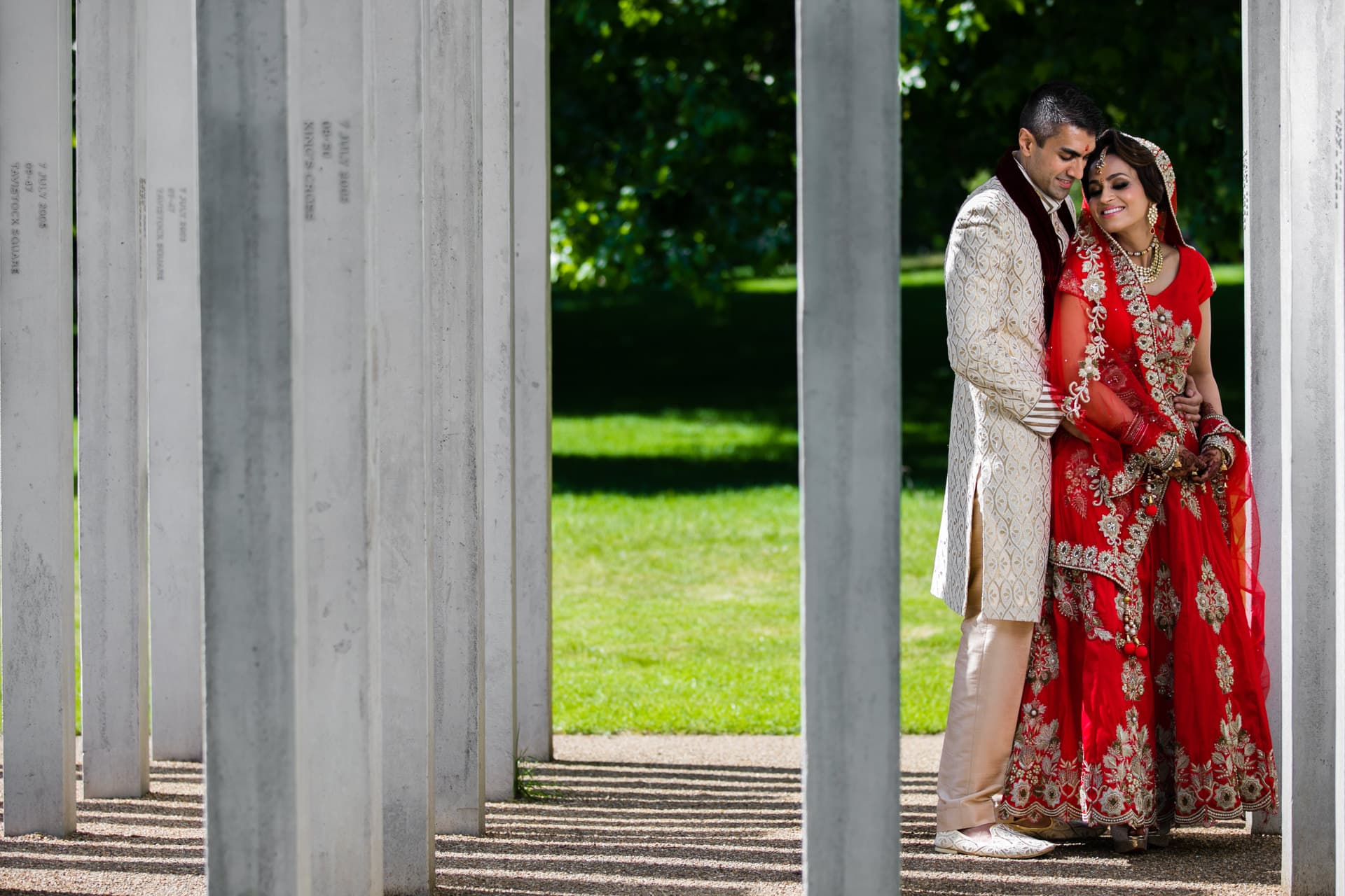 Asian wedding portrait