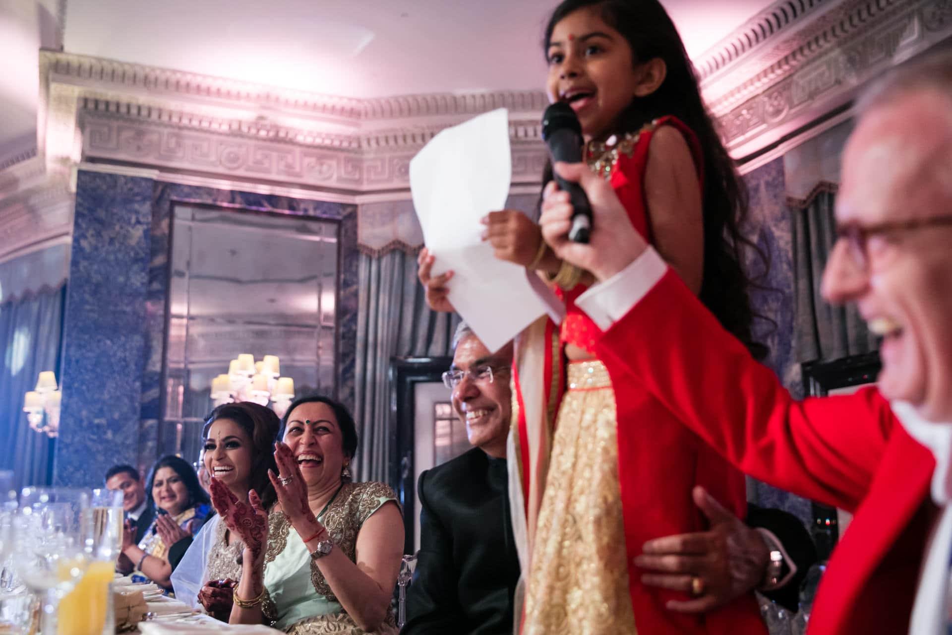 Asian wedding reception party speeches
