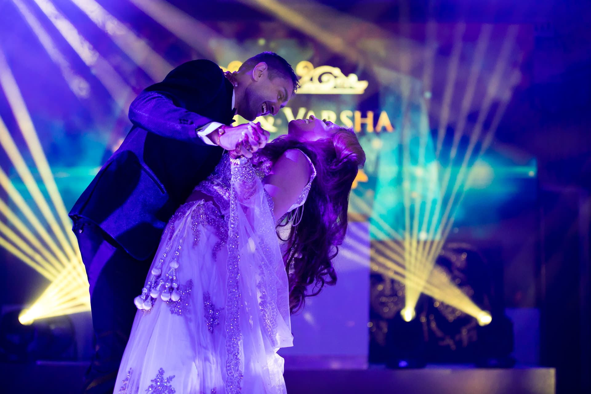 Asian Wedding couple first dance at The Dorchester Hotel London
