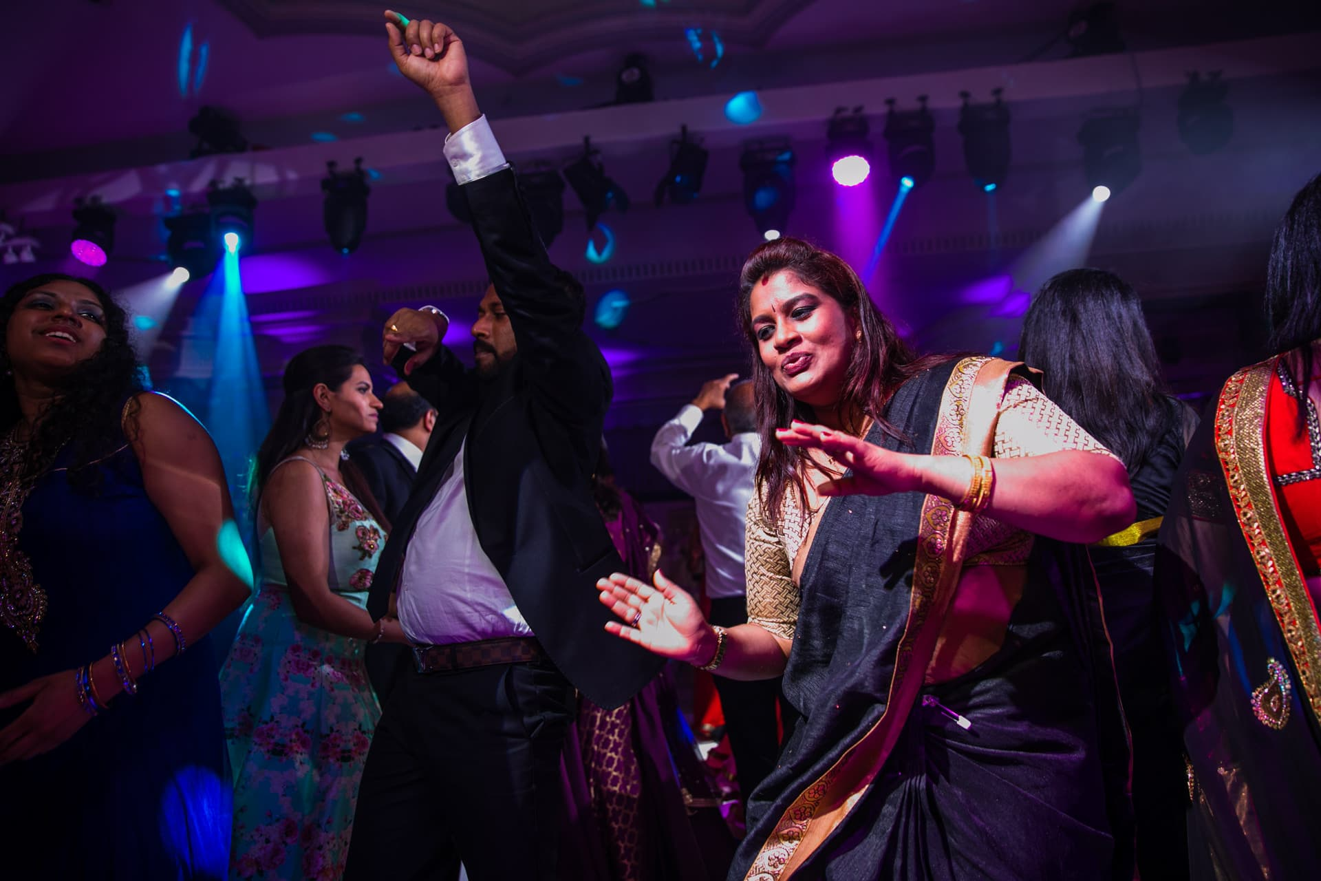 Wedding reception party at The Dorchester hotel