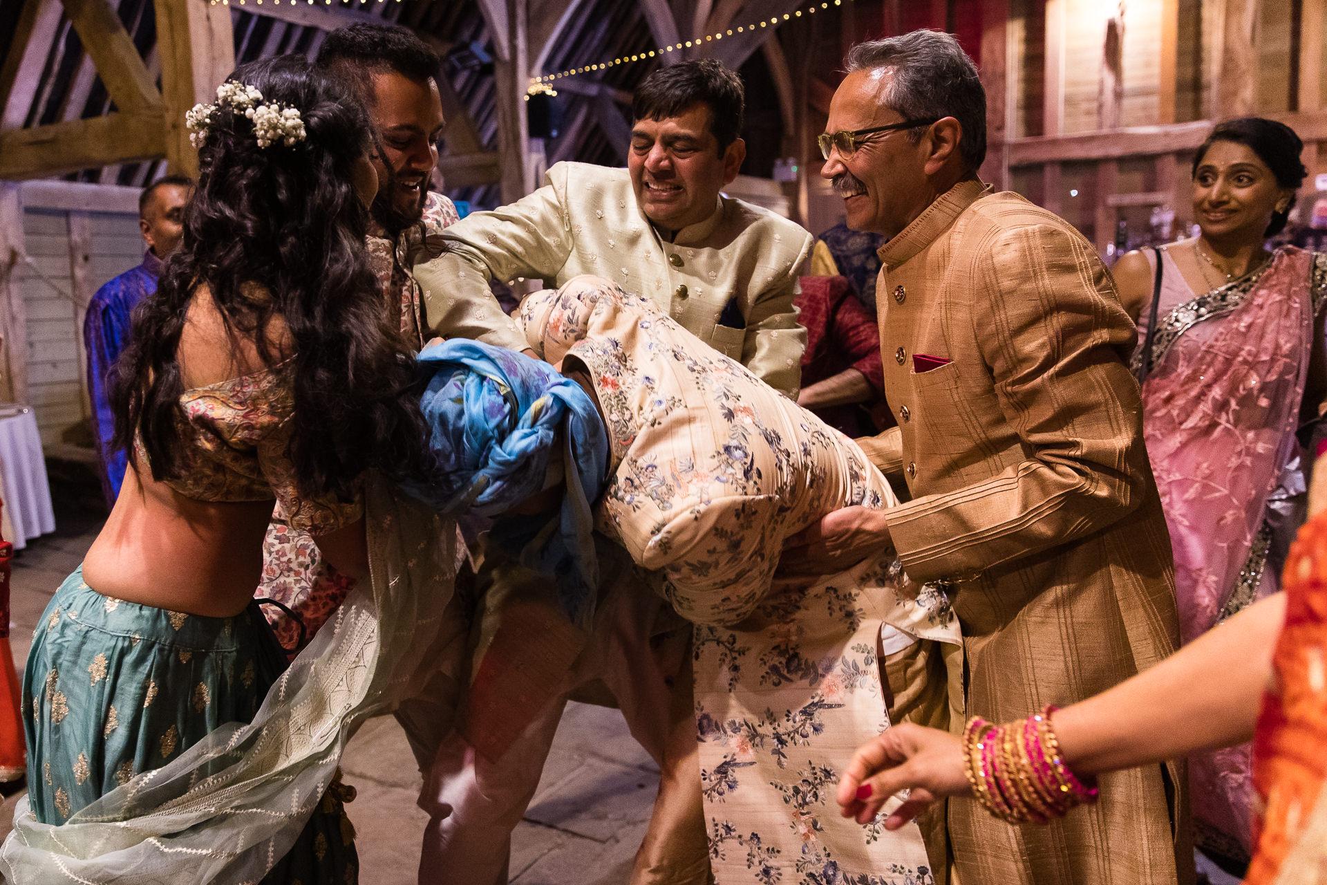 Shoe stealing during Hindu wedding