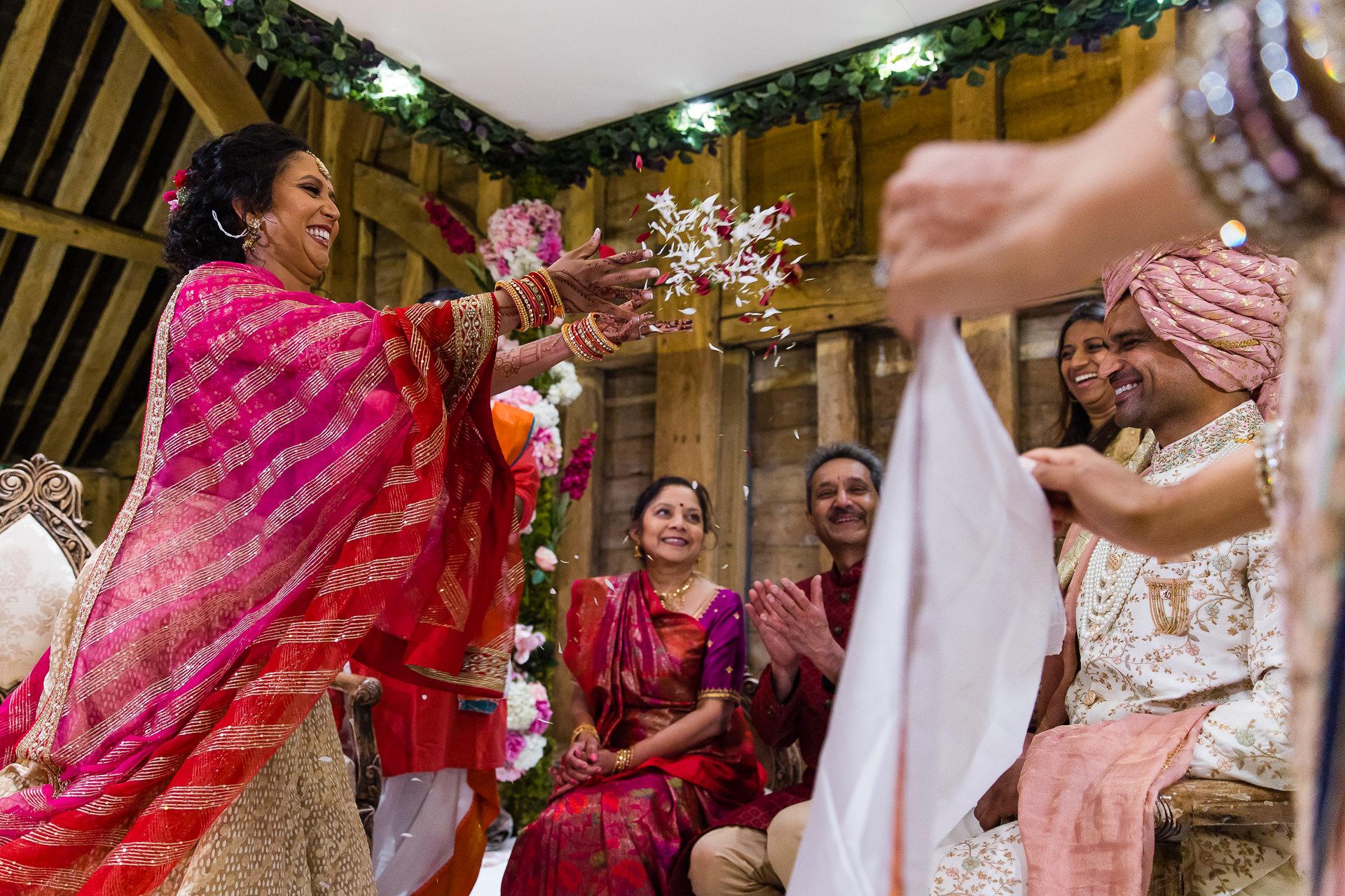 Asian wedding first look