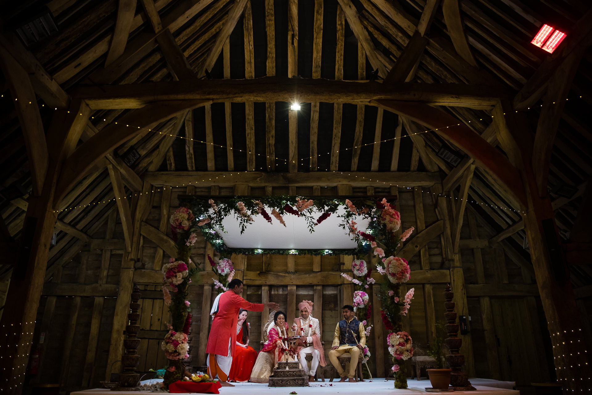 Hindu Wedding ceremony at The Priory Barn in Hitchin