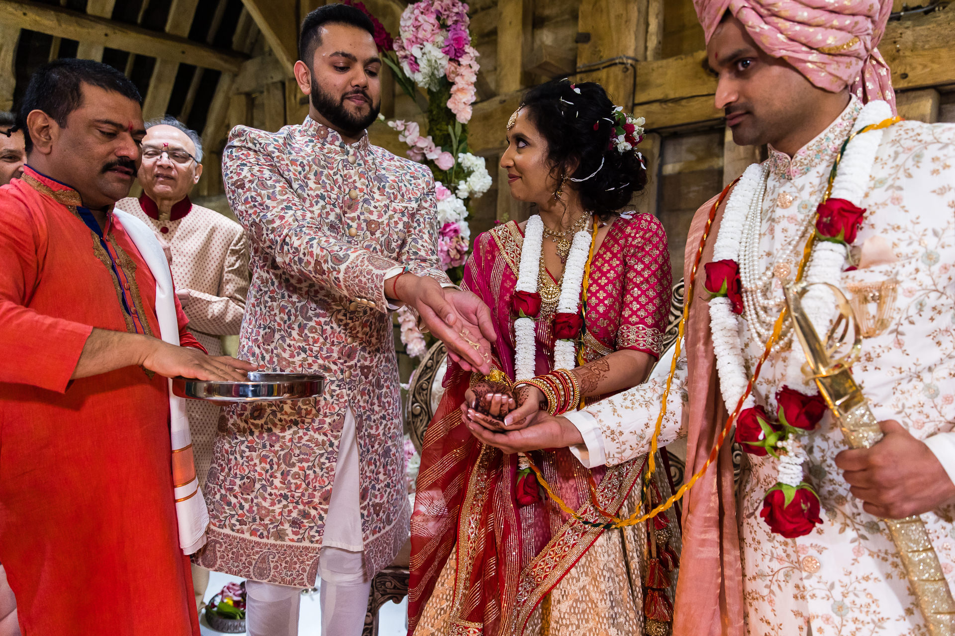 Hindu Wedding ceremony at The Priory Barn in Hitchen