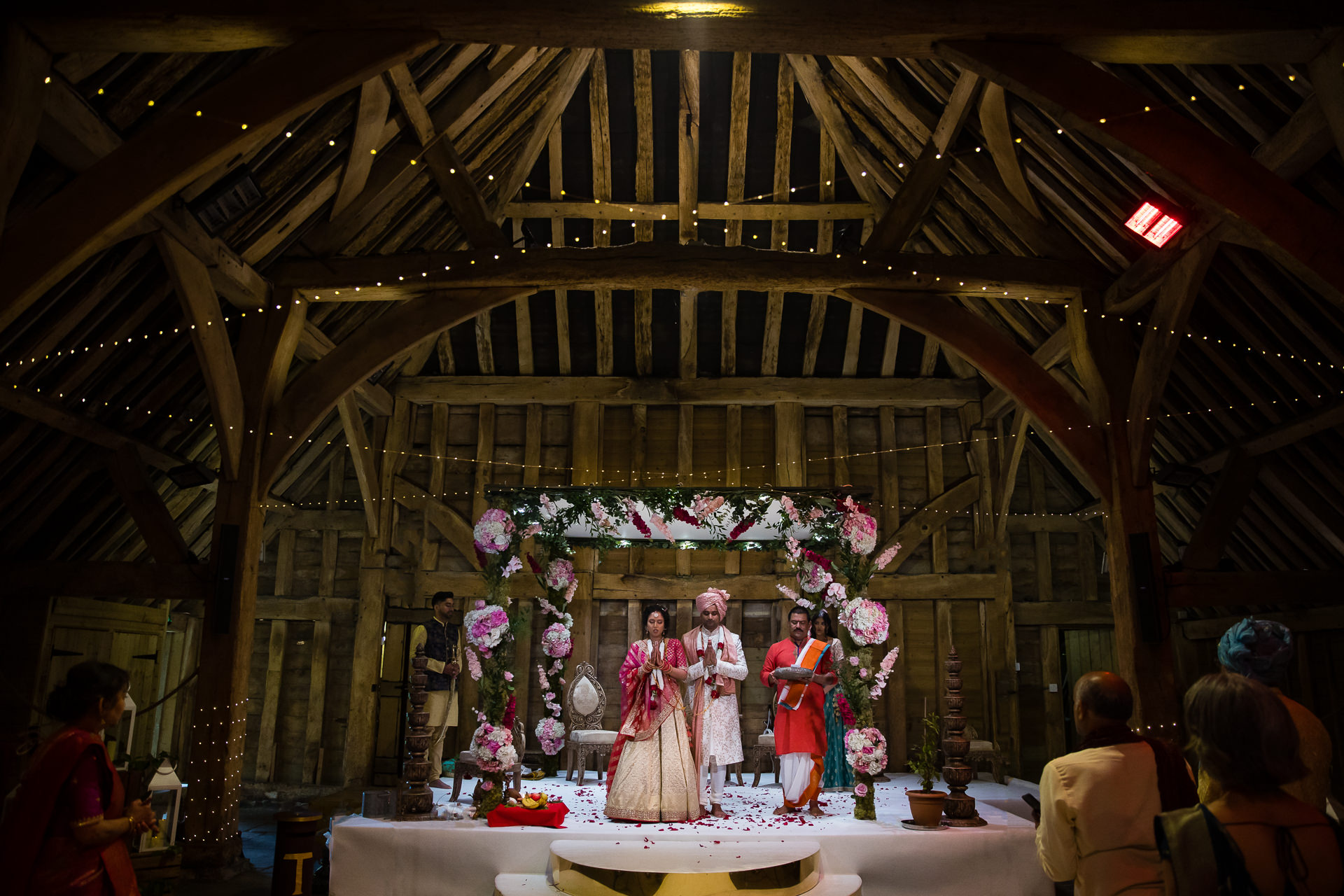 Asian Wedding ceremony at The Priory Barn in Hitchin