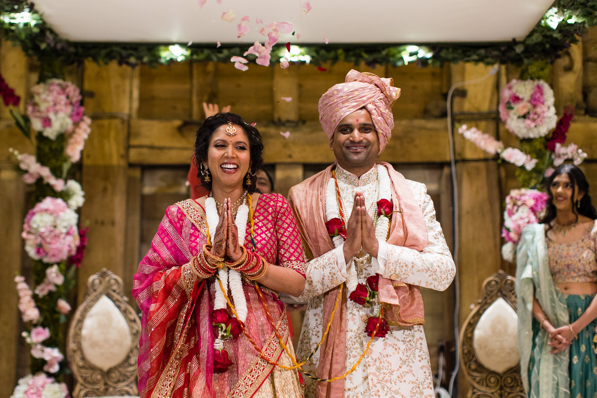 Asian Bride and Groom laughing