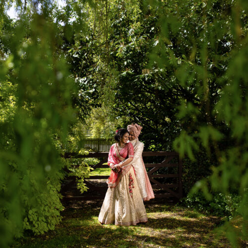 Wedding portrait at the Priory Barn