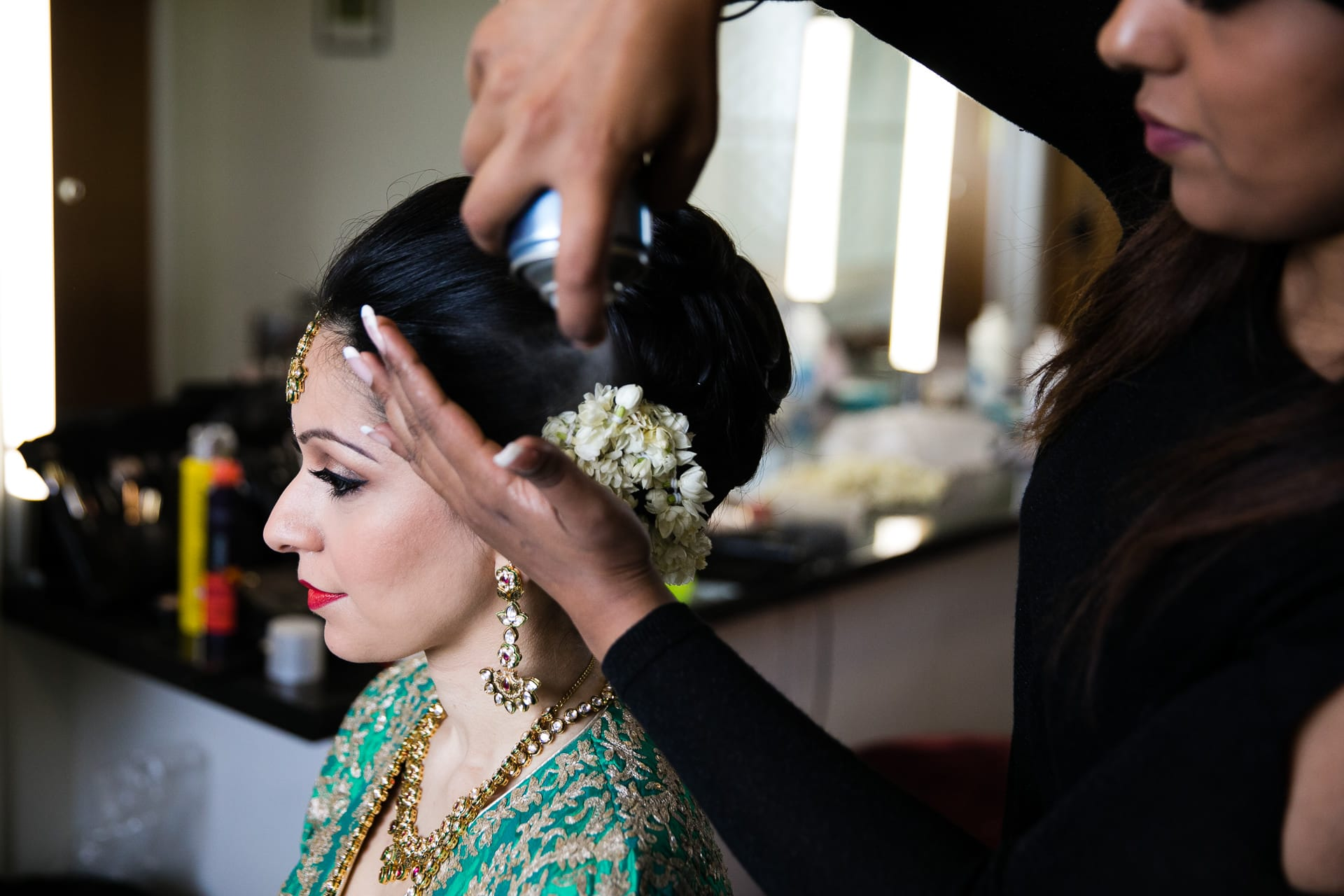 Hindu Wedding Bride getting ready by Suky Gill MUA