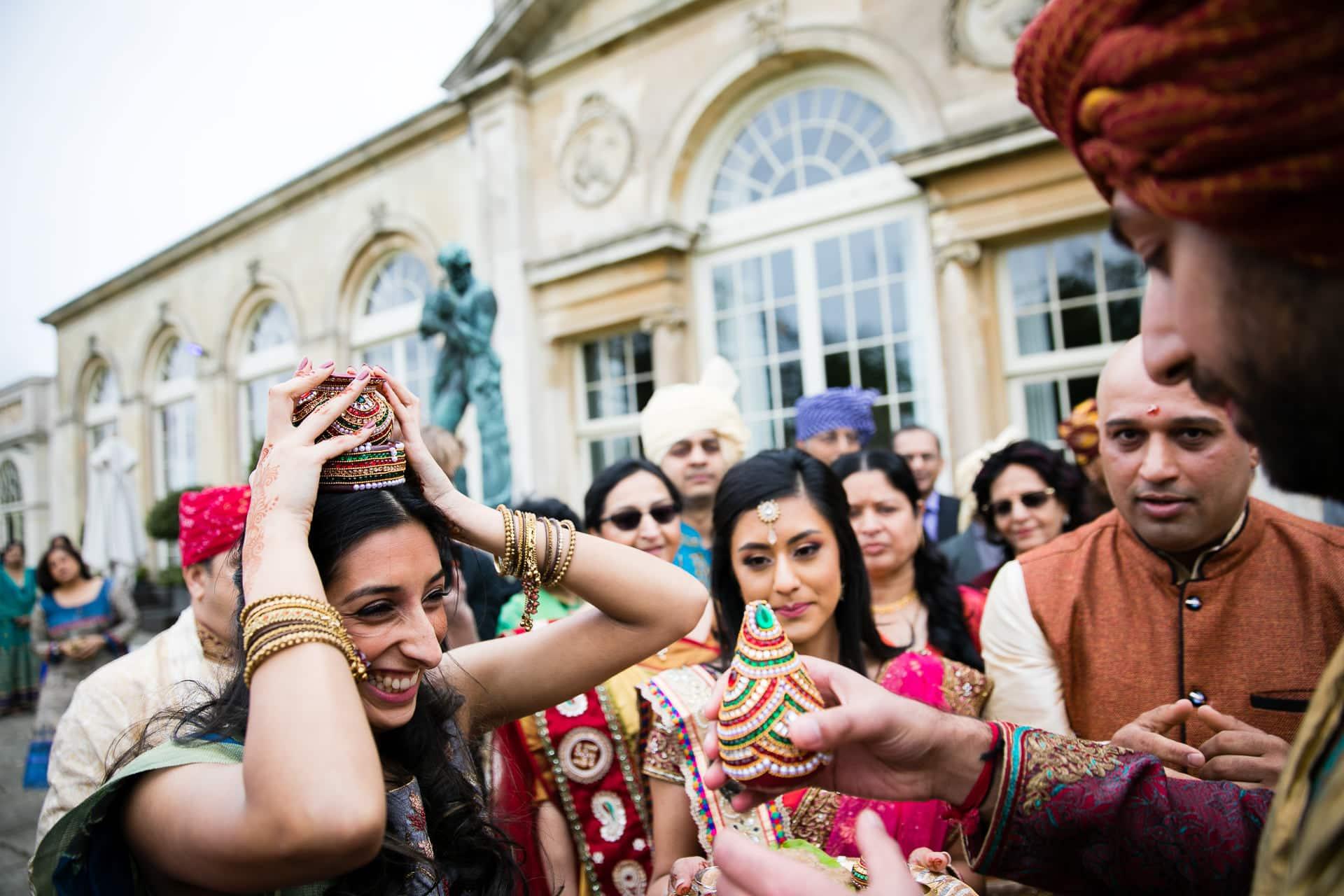 Asian Wedding welcoming ceremony