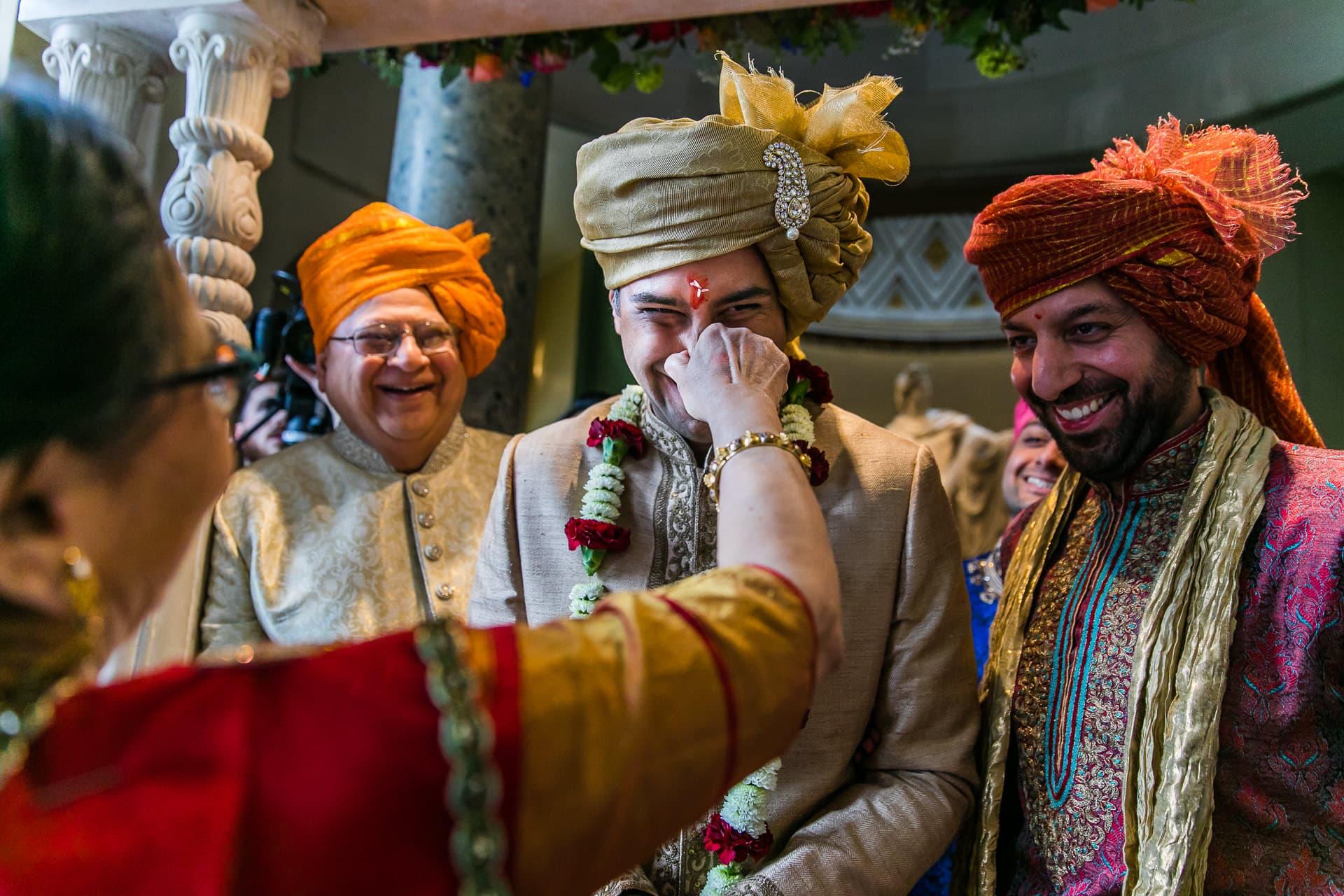 Nose Pinching during Hindu wedding