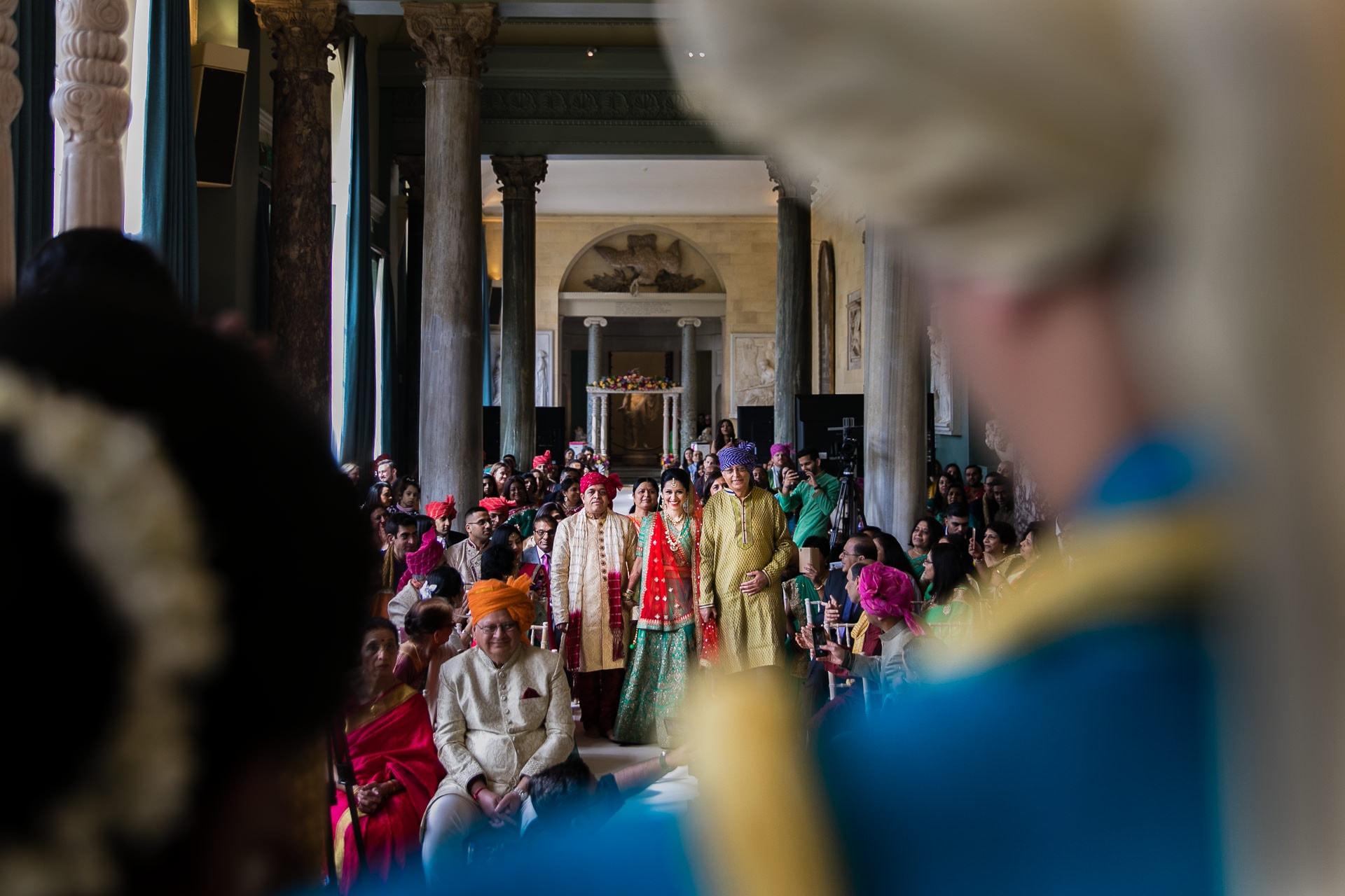 Hindu Wedding Bride arriving to mandap