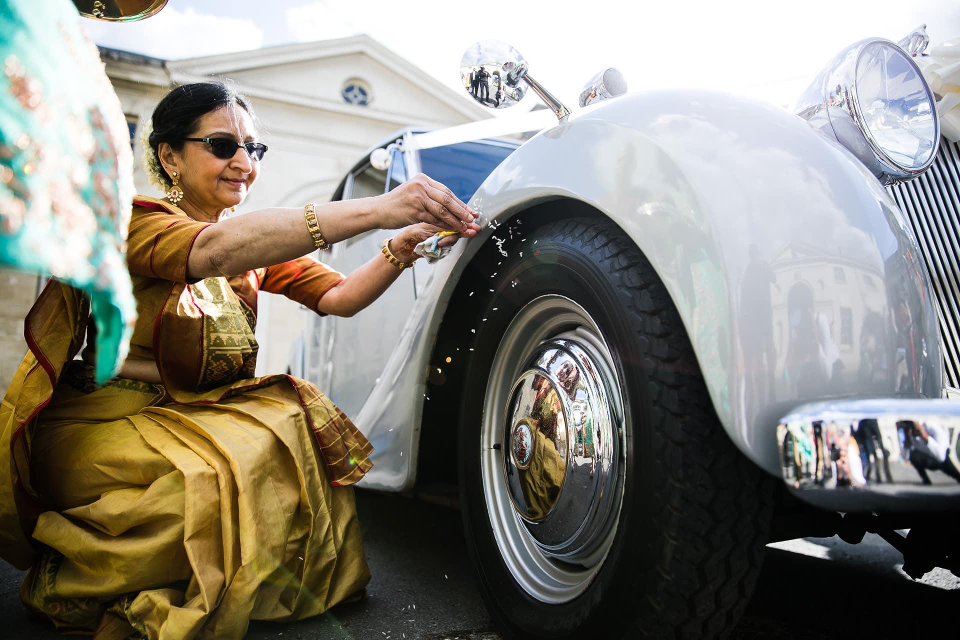 Car wheel blessing ceremony