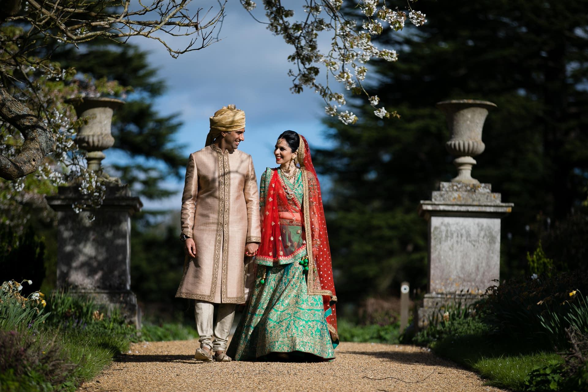 Asian Wedding Portrait at Woburn Abbey
