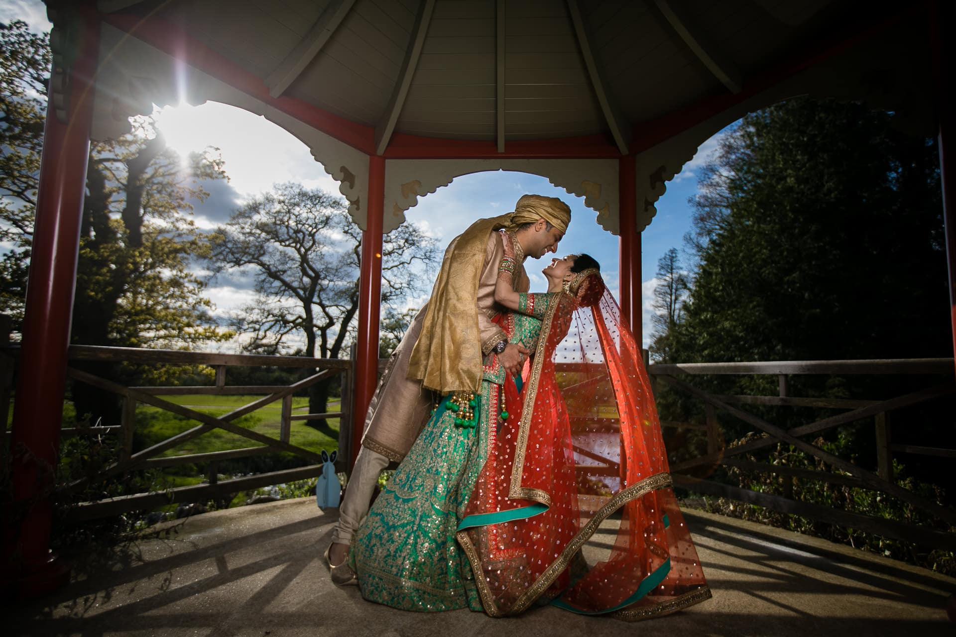 Asian Wedding Portrait at Woburn Abbey