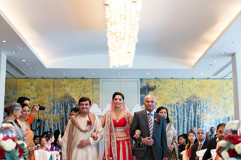 Arrival of Hindu Asian Wedding Bride