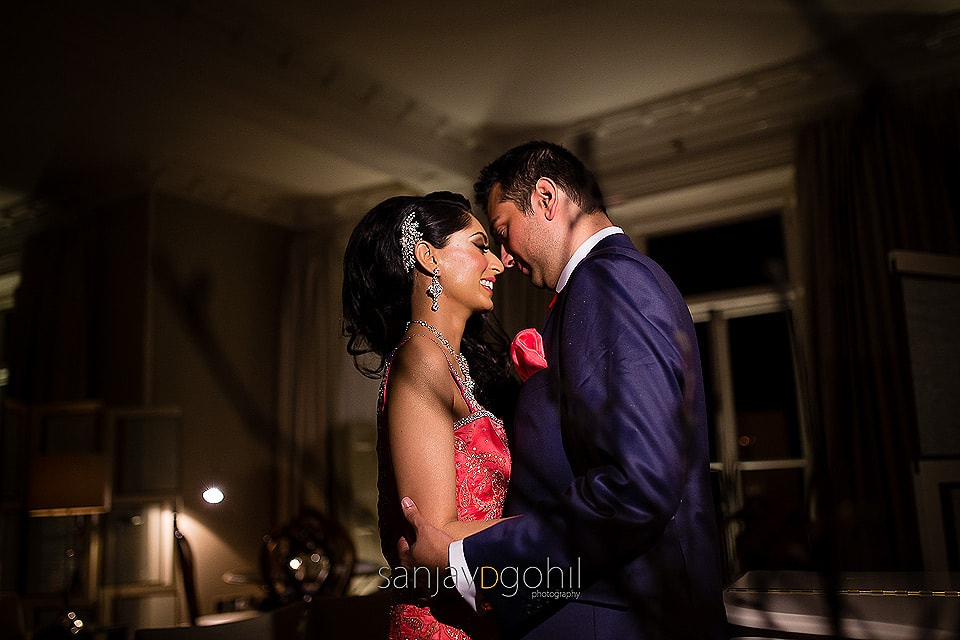 Asian Wedding Portrait by Sanjay D Gohil taken at The Grove, in Watford Hertfordshire
