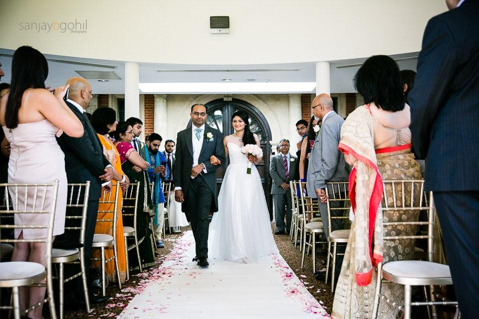 Civil ceremony at Savill Court