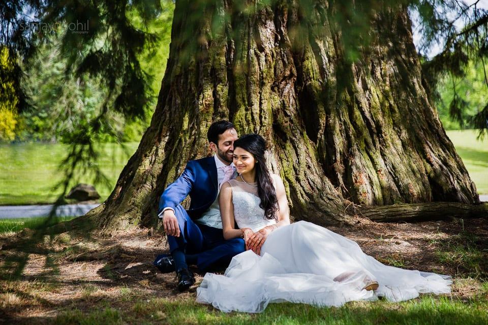 Civil wedding portrait at Saville Court