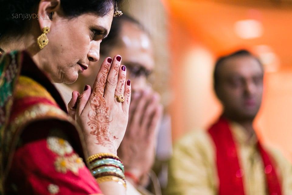 Closeup of hands in prayer position