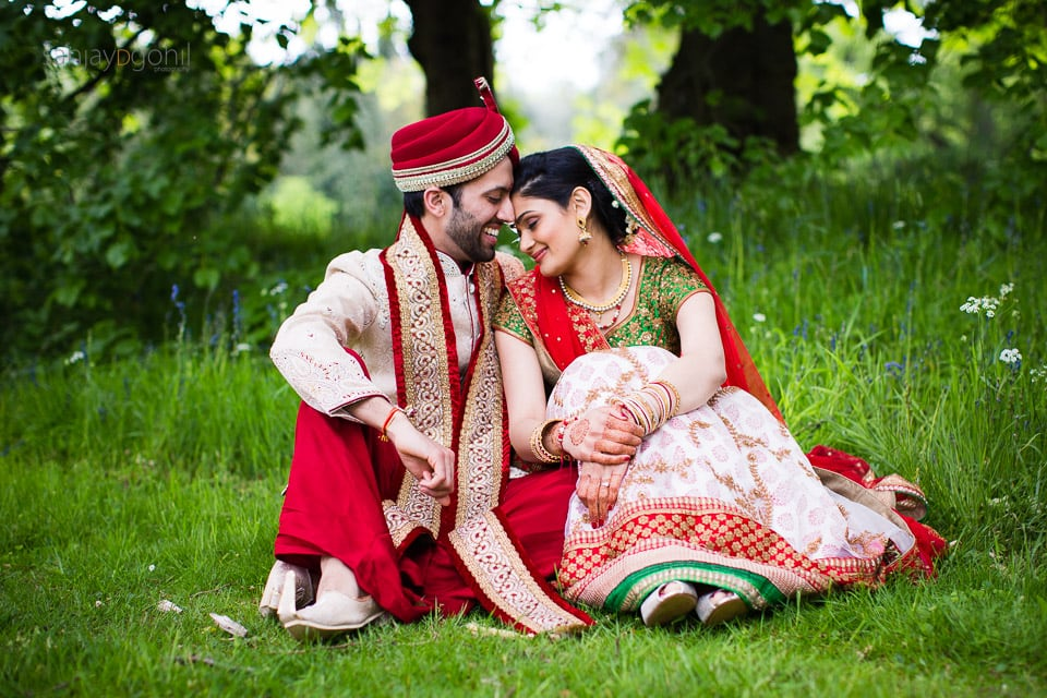 Asian wedding portrait at Saville Court Windsdor