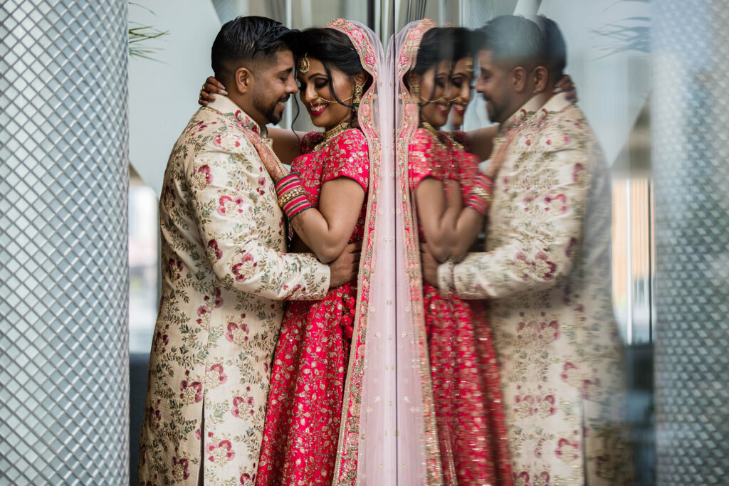Asian wedding portrait at Hilton Wembley
