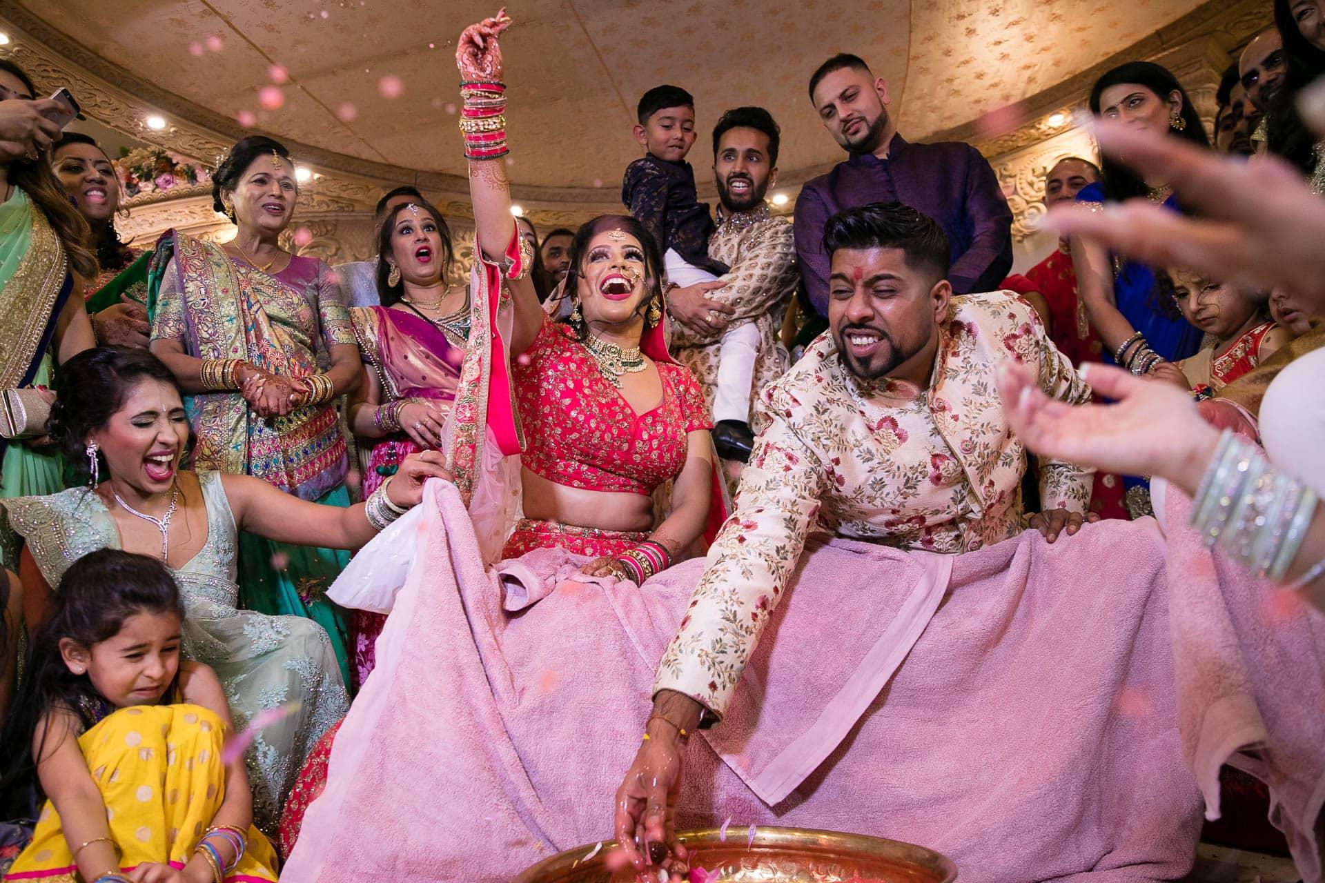 Koda modi game during Asian Wedding