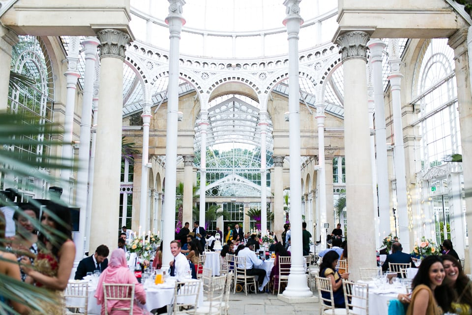 Wedding Reception party at Syon Conservatory
