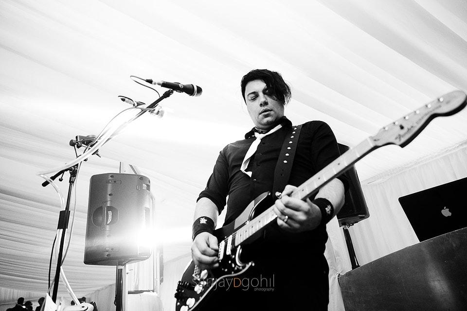 Wedding band guitar player